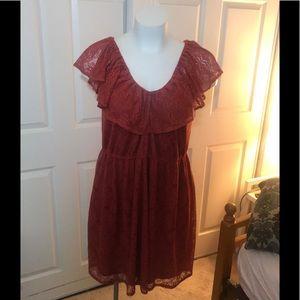 NWT American Rag 3x Copper Orange Lace Dress